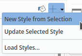Writer: paragraph style actions new style from selection