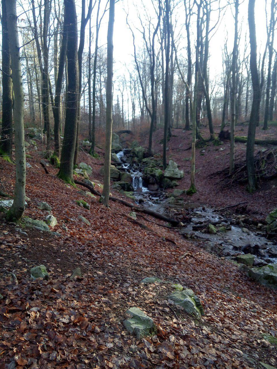 Ruisseau avec pont en pierre