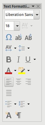 Screenshot: Using CollaboraOffice Draw, customized text formatting