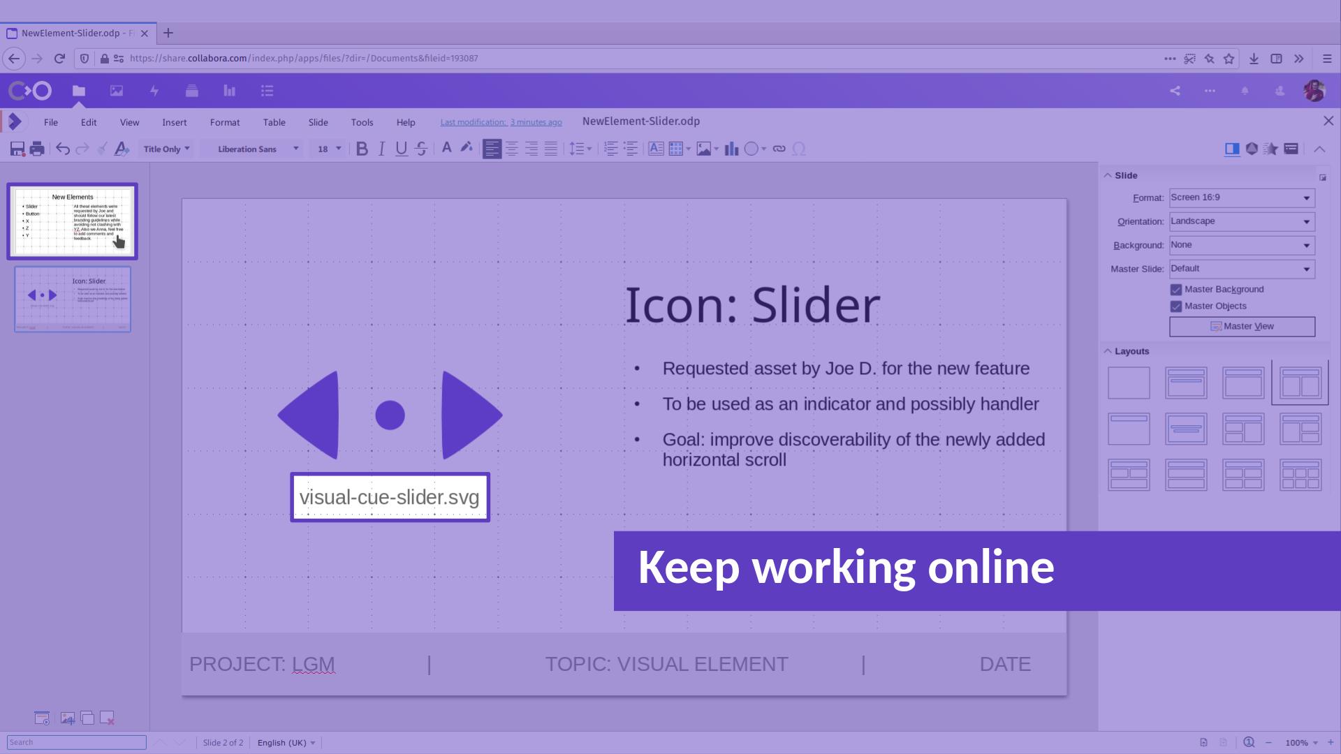 LGM2020 slide: Keep working online