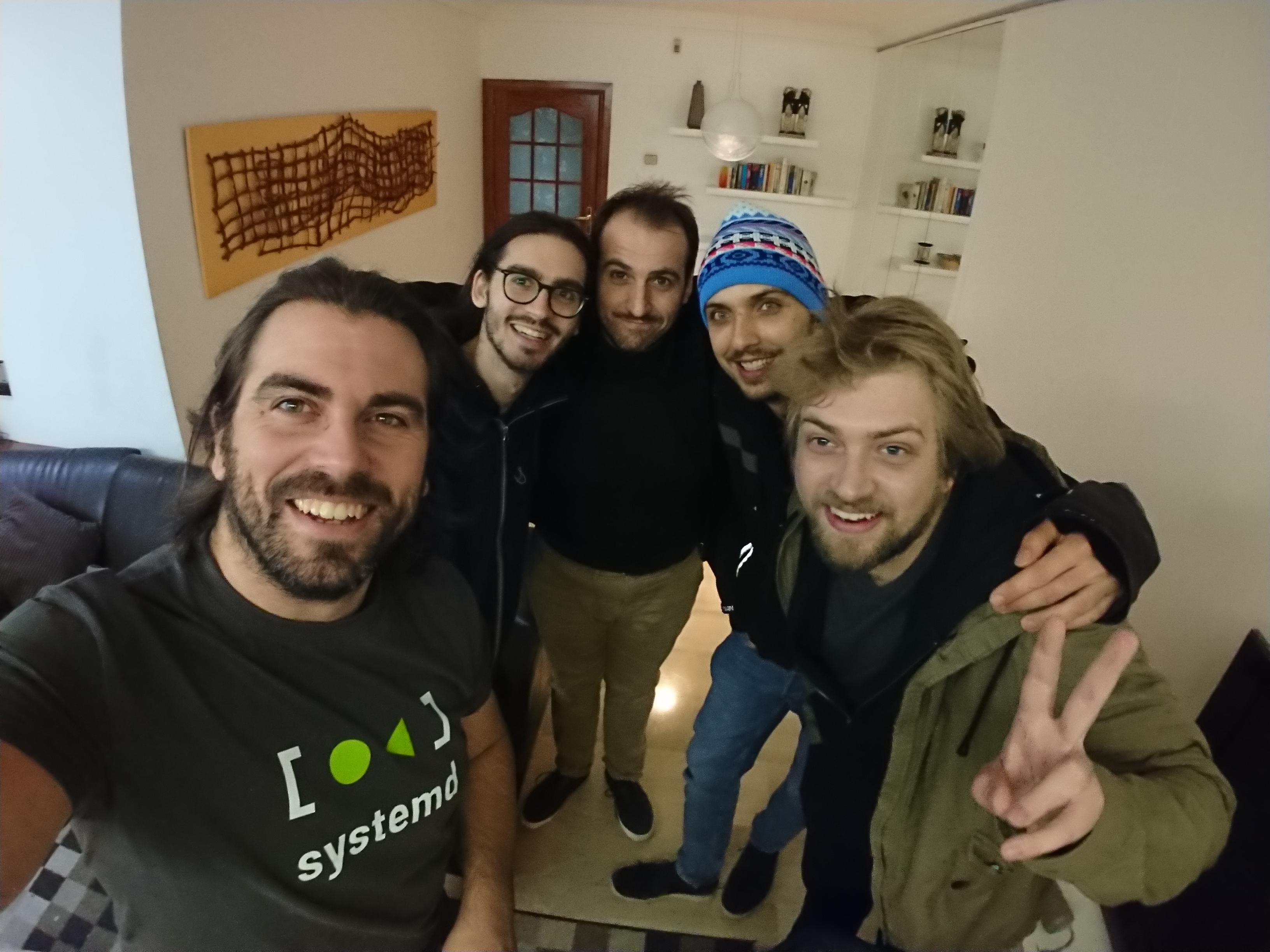 Javier, Tobias, me, Julian and Lubosz