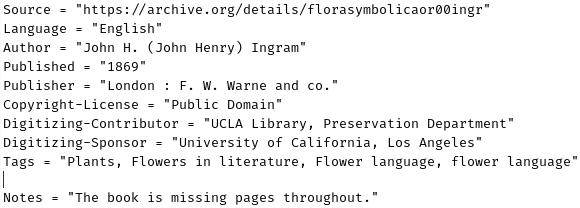 Metadata example CC BY-SA 4.0