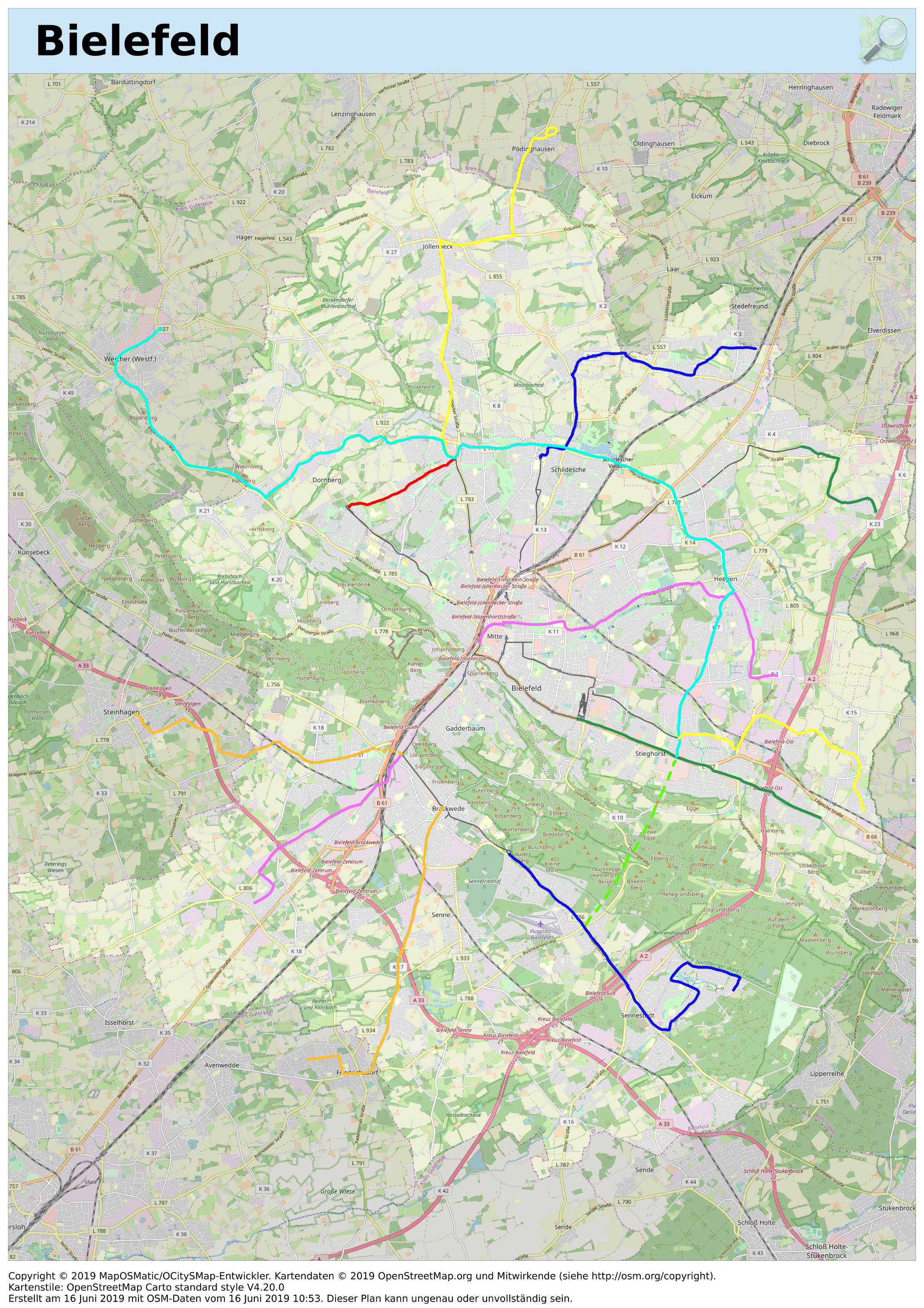 Zielstadtbahnnetz Bielefeld